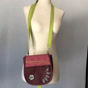 Haiku Embroidered Suede Small Crossbody Bag